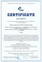 Certificate of safety<br>Mega Essential Siberian Super Natural Sport. Mega Essentials
