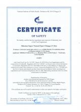 Certificate of safety<br>Omega-3 Ultra Integratore alimentare Siberian Super Natural Sport. Omega-3 ULTRA, 120 capsule